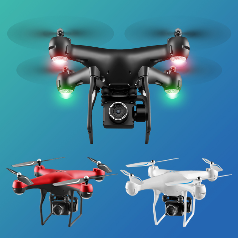 RC Helicopter Foldable Drone WIFI FPV With ESC Camera 4K HD 1080P