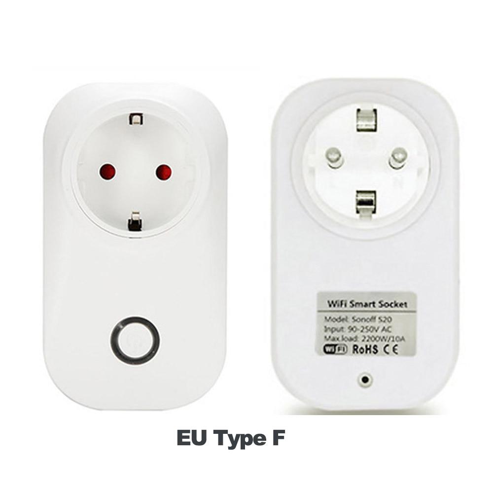 Sonoff S20 Smart Wifi Power Socket EU UK US PLug Wireless APP Remote Control Wi-fi Switch Work with Alexa Google Home