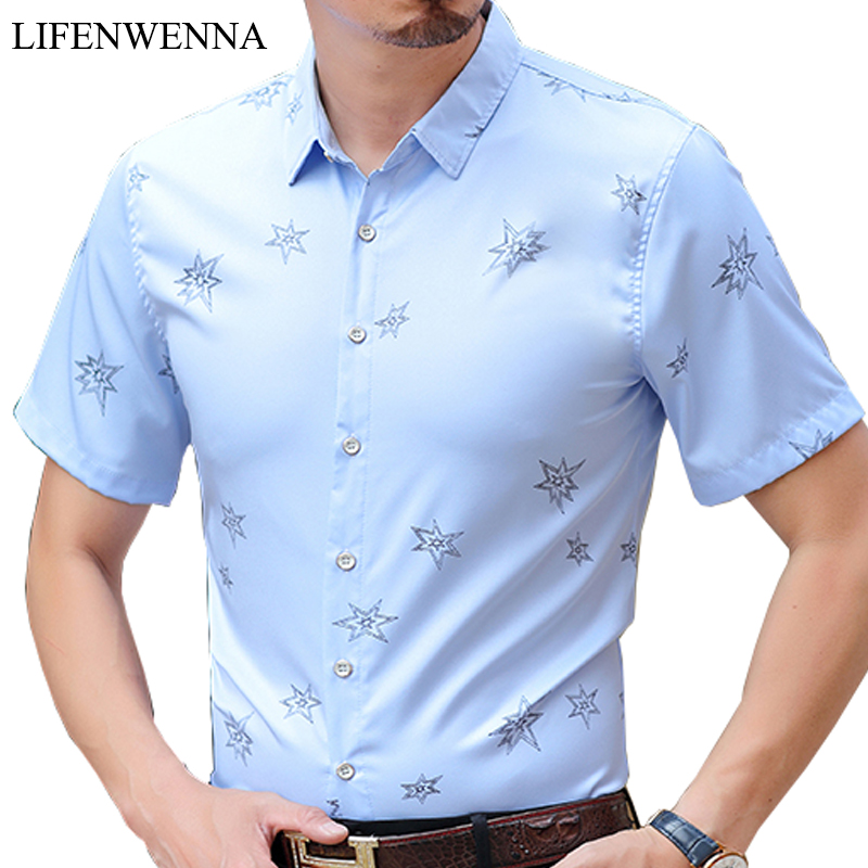 Hot 2019 Neue Modemarke Mens Printed Shirt Kurzarm Slim Fit Shirt - Herrenbekleidung