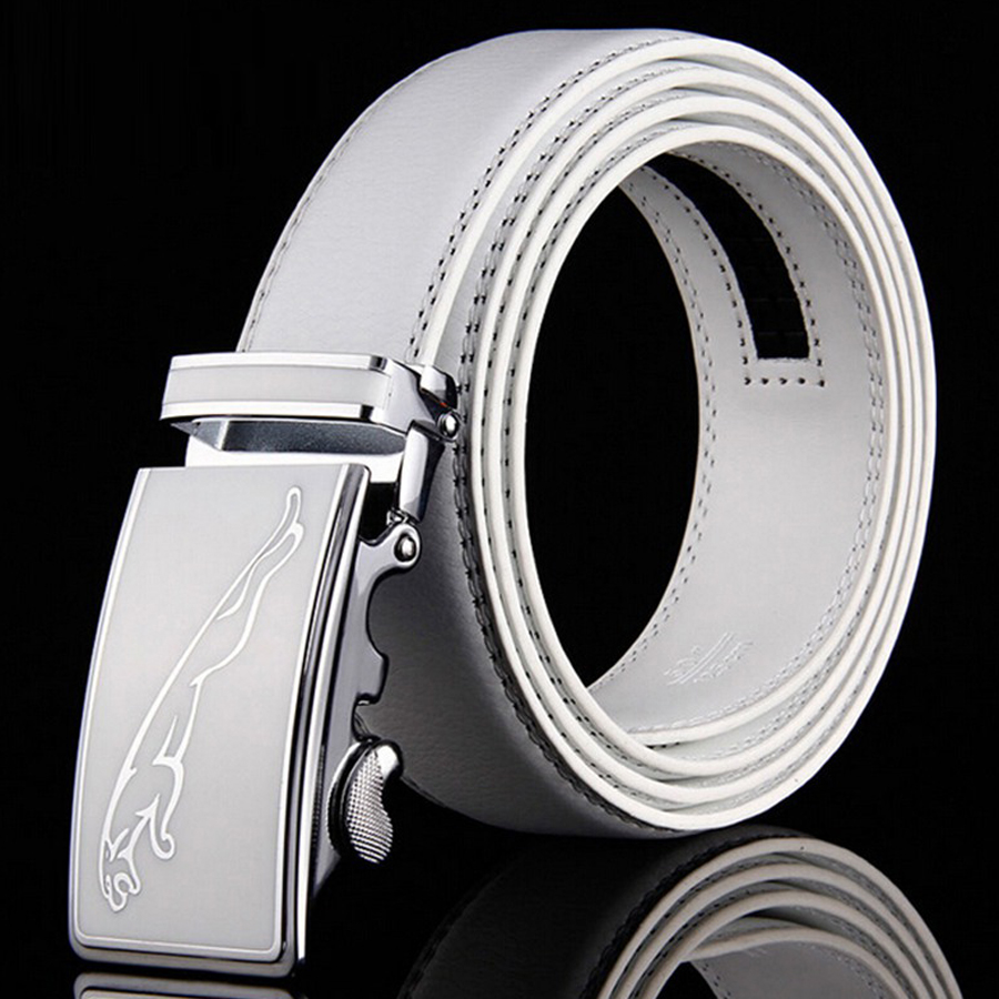 Factory Outlet 2019 Hot New Brand High-grade Jaguar Automatic Buckle Bælter Mænd Business Casual Leather Luxury Belt