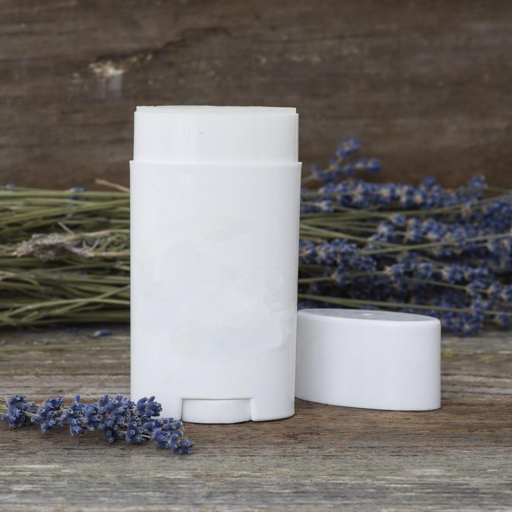 10pcs 2.5 Oz 75ml Deodorant Container Empty Plastic White Twist-Up Refillable Tubes For DIY Deodorant Stick Heel Balm Cosmetic