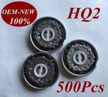 500ชิ้นHQ2แทนที่หัวมีดโกนใบมีดสำหรับP Hilipsเครื่องโกนหนวดHQ20 HQ22 HQ220 HQ26 HQ262 HQ282 HQ283 HQ284 HQ200 HQ202 HQ201 HQ203 HQ22