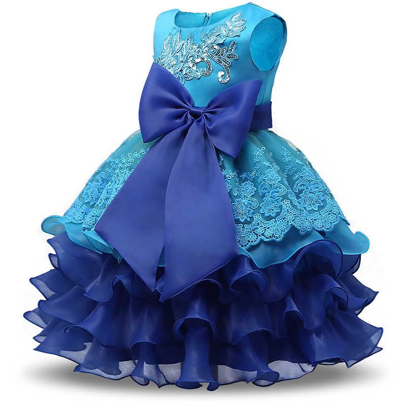 CAILENI kız elbise zarif çocuk parti Frocks payetli dantel bebek vaftiz elbiseler çocuklar akşam giyim kız
