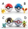 4pcs/lot random send Trainer Poke Go mon Pokeball Love Park Ball Masterball Pokeballs GS Ultra Dive Poke Ball Toy with Pikachu