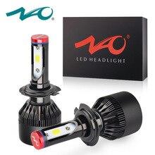 НАО H4 led h7 h1 h7 светодиодные лампы свет автомобиля h3 hb4 h11 Светодиодная лампа для авто 12 В h27 880 9006 9005 hb3 h9 h8 h13 HB5 72 Вт фары лампы