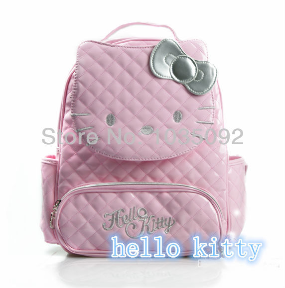 2017 popular new Hello Kitty Bag New Women's backpack White black pink red four colors to choose from PU waterproof material