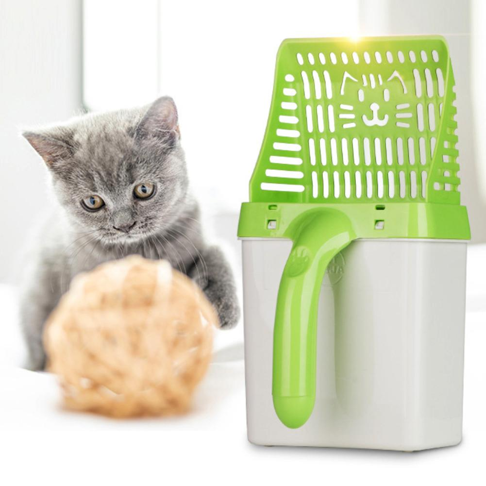 Plastic Pet Sand Shovel Poop Scooper Toilet Cleaning Tool Cat Litter Scoop Housebreaking useful