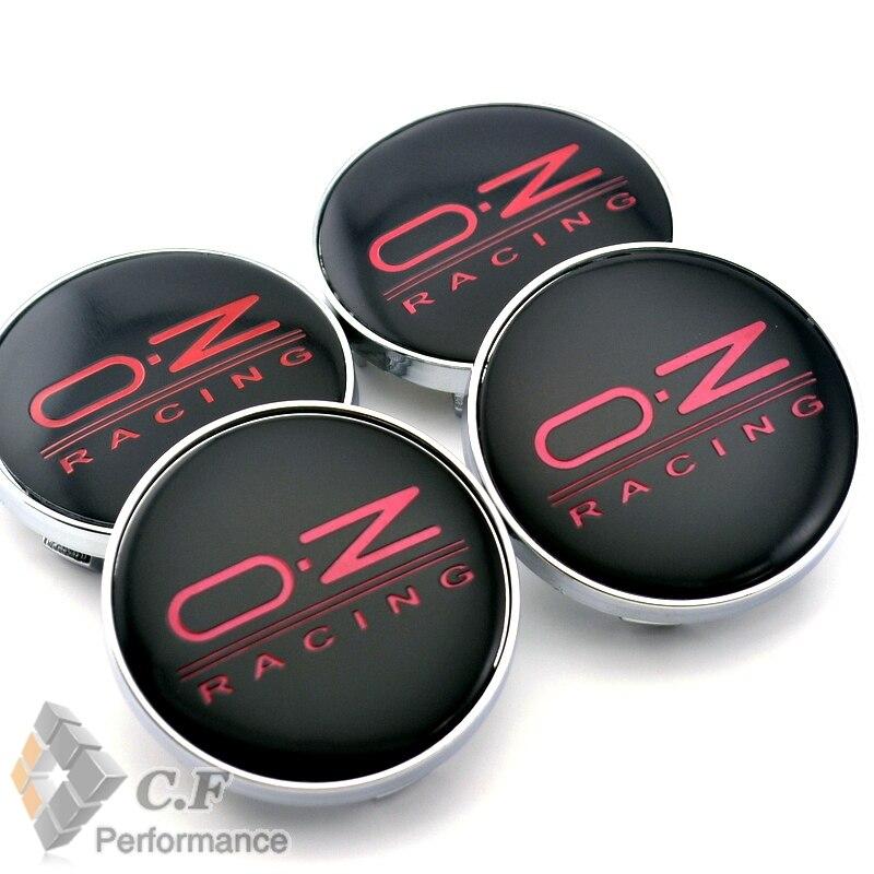 60mm 4PC Black O.Z  OZ RACING Wheel Center Hubs Badge Sticker Wheel Center Caps Emblem Fit Bora Golf MK5 MK6 413 7 bmw black carbon fiber emblem logo badge set 82mm 74mm 45mm 68mm hood trunk steering 4 x wheel caps