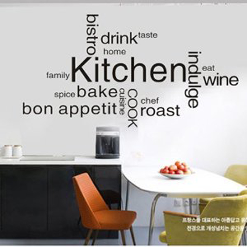 Kitchen Wall Decor Inspirations Romantic Kitchen Restaurant Tile Vinyl  Stickers Wall Decals Art Kitchen Decor Mural Wallpaper In Wall Stickers  From Home ...