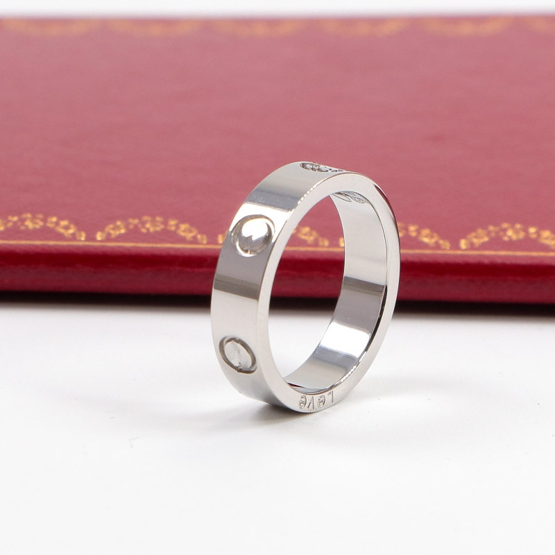 316L Stainless Steel carter Love ring For Women Men CZ wedding couple ring brand Logo Pu ...