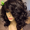 Glueless Full Lace Wigs Natural Cheap Virgin Brazilian Short Wavy Bob Human Hair Wigs For Black Women Short Bob Lace Front Wigs