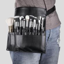 Professional Faux Leather Cosmetic Makeup Brush Bag Belt Str