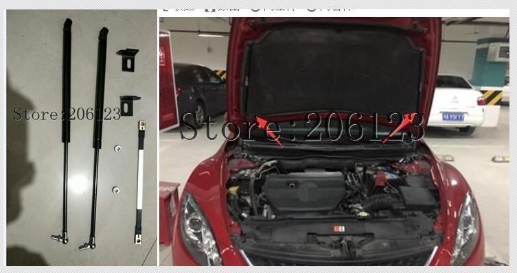 20082009 2010 2011 2012 2013 עבור מאזדה 6 אביזרי רכב מצנפת הוד גז הלם יתד תמיכת רכב סטיילינג
