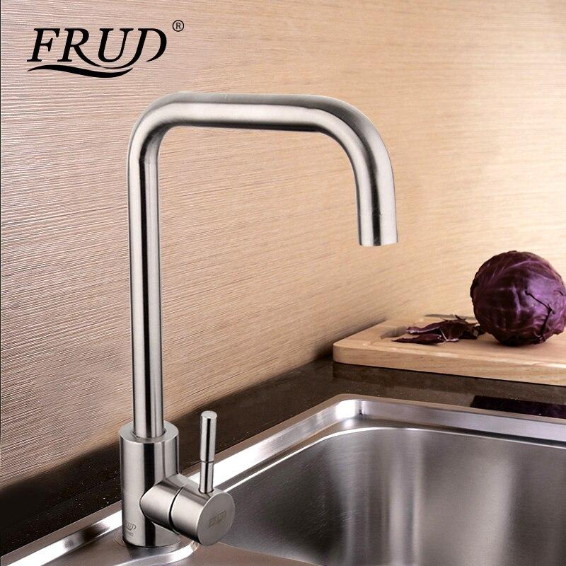 FRUD Küche Wasserhahn Küche Mischbatterien für Küche Waschbecken Wasserhahn Einzigen Griff Heiß Kalt Wasserhahn Stream-Deck griferia