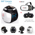 4K 360 Degree Panoramic Camera Wifi 2448*2448 30fps Sport Action VR Camera DVR Extra add 3D VR Glasses free shipping