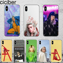 ciciber Billie Eilish for iPhone 11 Pro Max Phone Cases For 7 8 6 6S Plus X XS XR 5 5S SE Coque Cover Soft TPU