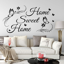 Large Sweet Home Quote Wall Decal Bedroom Living Room Butterfly Sticker Baby Nursery Vinyl Decor
