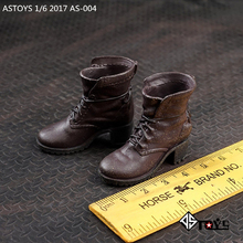 1/6 Scale Clothes Accessories AS004 Avengers Crimson Witch Boots/Shoes Brown Old Ver W Feet Model 12 Female Body HTtoys Figure