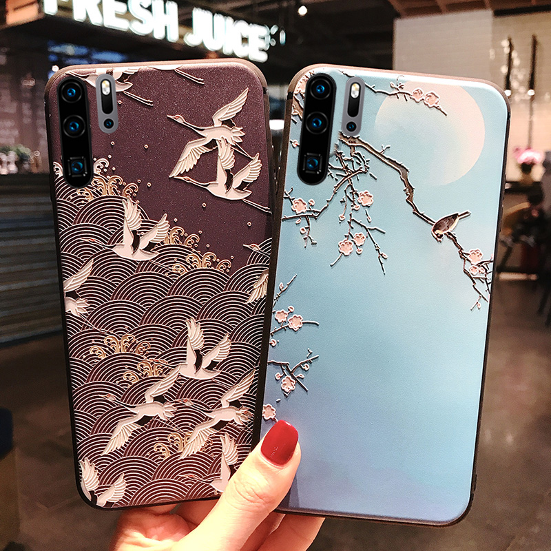 3D Flower Emboss Silicone <font><b>Case</b></font> for <font><b>Huawei</b></font> <font><b>Y7</b></font> Y6 Pro Y5 Y9 <font><b>2019</b></font> P10 P20 P30 Mate 20 Lite Honor 10i 10 9 Lite 8X P Smart Plus image