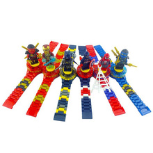 Cute Super Hero Watch Building Blocks Ninjagoed Minecrafted Rotate Figures Bricks Compatible LegoINLY For Xmas Children Gift Toy
