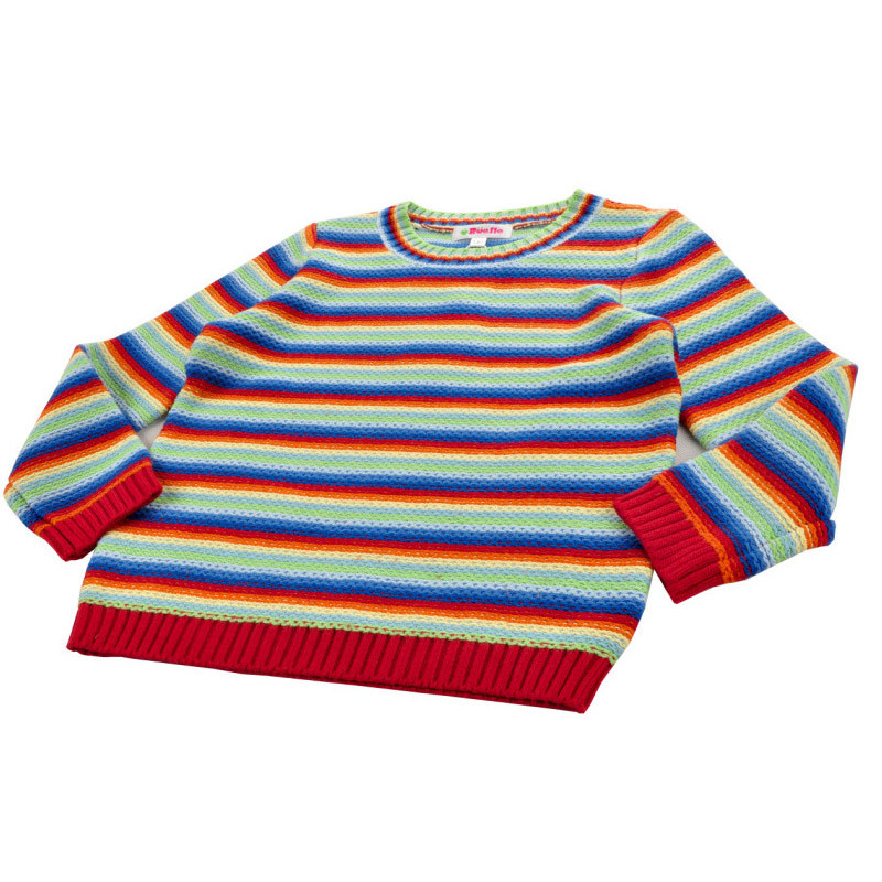 2e2cb60d2 Rainbow striped children baby casual sweater pullover outer door play  sports autumn winter boys girls clothing-in Sweaters from Mother & Kids on  ...