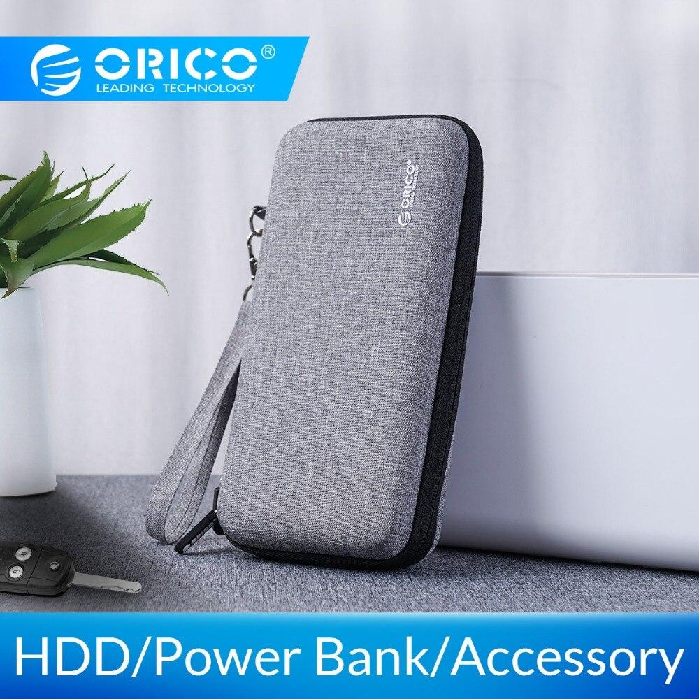Orico caso duro power bank caso para 2.5 Polegada disco rígido usb cabo carregador de armazenamento externo hdd caso saco