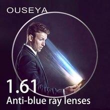 73172c77f9 1.61 Index Anti Blue Light Aspheric Prescription Resin Lenses Anti-fatigue  Anti UV Oil Water Reflect Glasses Lens