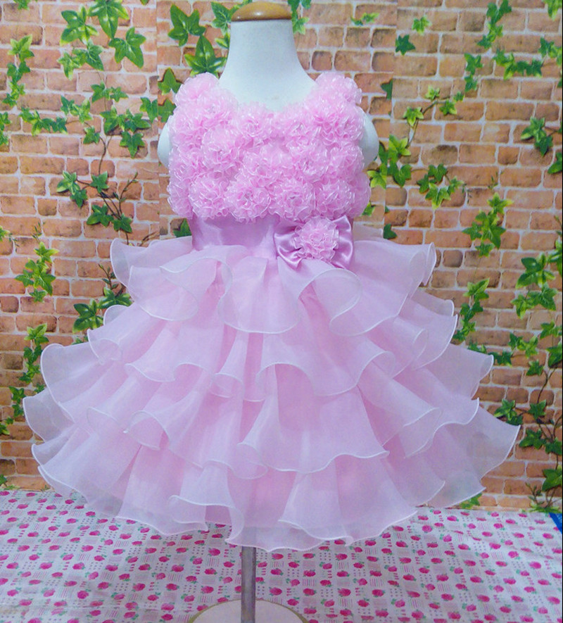 New lace bow flowers summer dresses Children Clothing Baby Girls Casual party evening dress princess dress kids wedding dress dressnomore girls summer dress for wedding bow dance party costume children princess kids evening dresses 3 10y