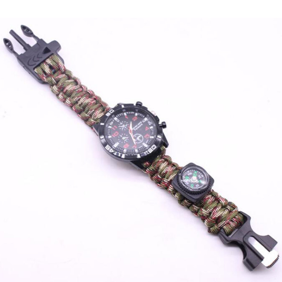 Military Outdoor Paracord Survival Bracelet Compass (4)