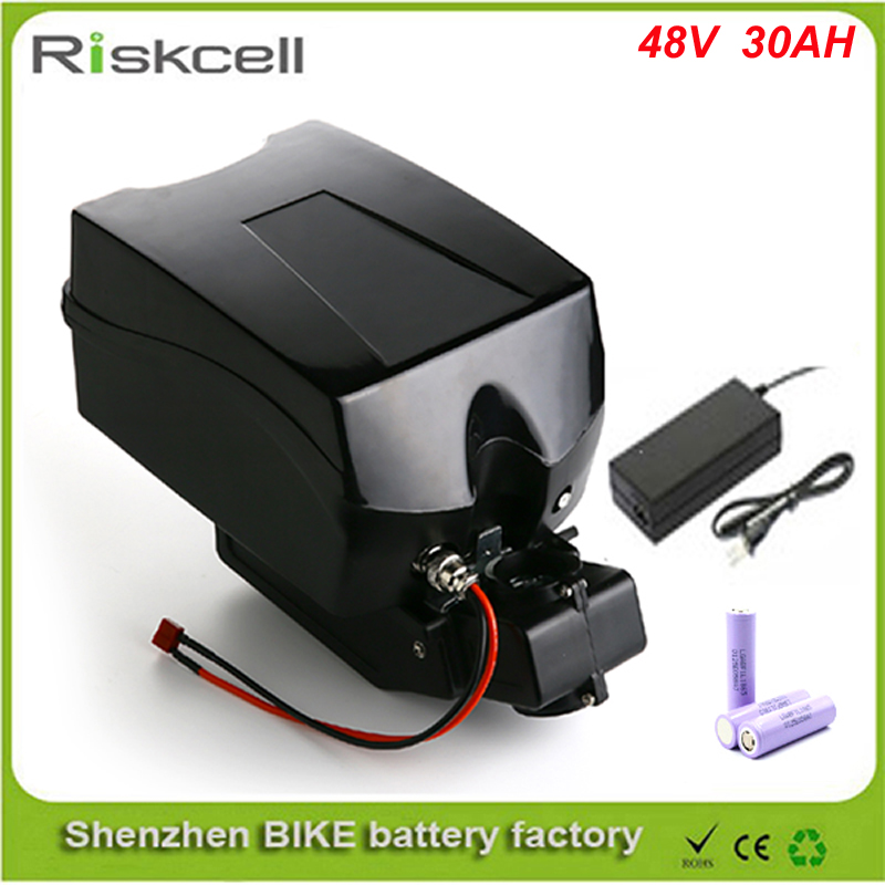 Frog case ebike lithium battery 48v 30ah lithium ion bicycle 48v electric scooter battery for electric bike Use LG 18650 cell free customs taxes powerful 48v 1000w electric bike battery pack li ion 48v 34ah batteries for electric scooter for lg cell