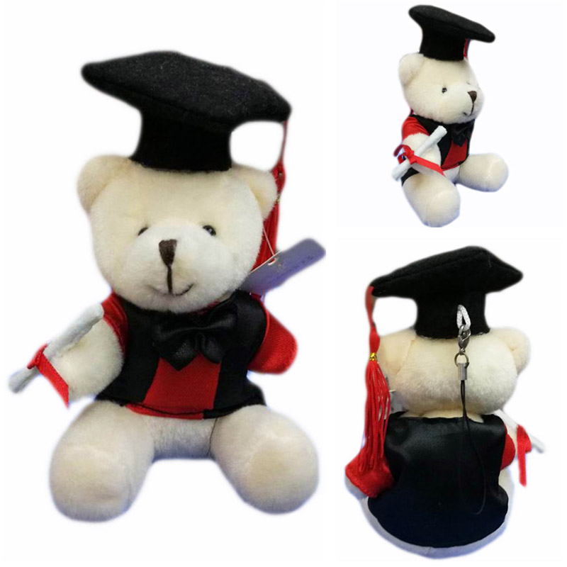 10cm Graduation Teddy Bear With Cap and Gown Plush Doll Cartoon ...