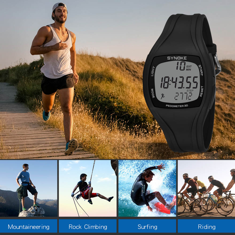 Mens Watches Clock Sports-Wristwatch Digital Hiking Climbing Outdoor Waterproof Luxury