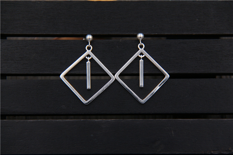C & R Real 925 pendientes de plata esterlina para mujer cuadrado - Joyas - foto 4