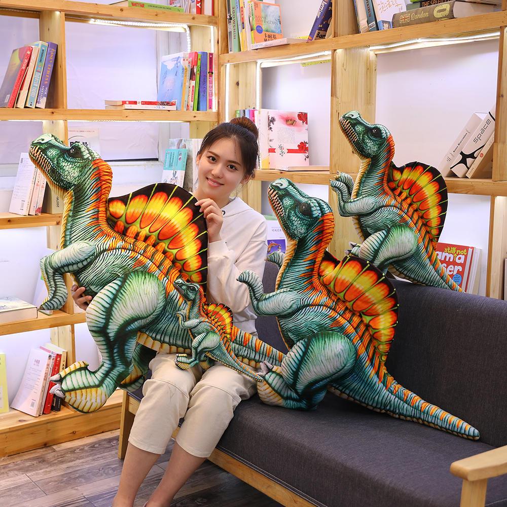 40-100cm New Dinosaur Plush Toys Stuffed Animal Dragon Doll Spinosaurus Toys For Children Lifelike Pillow Kids Birthday Gift
