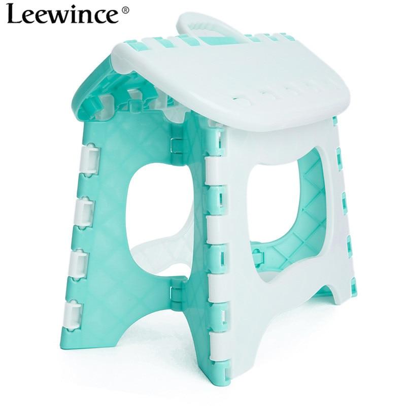 Leewince Plastic foldable bathroom small stool, children\'s outdoor ...