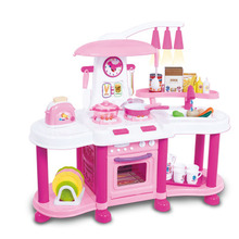 Children girl toys play house kitchen cooking simulation kitchen cooking playsets baby nursery baby playing housecozinha