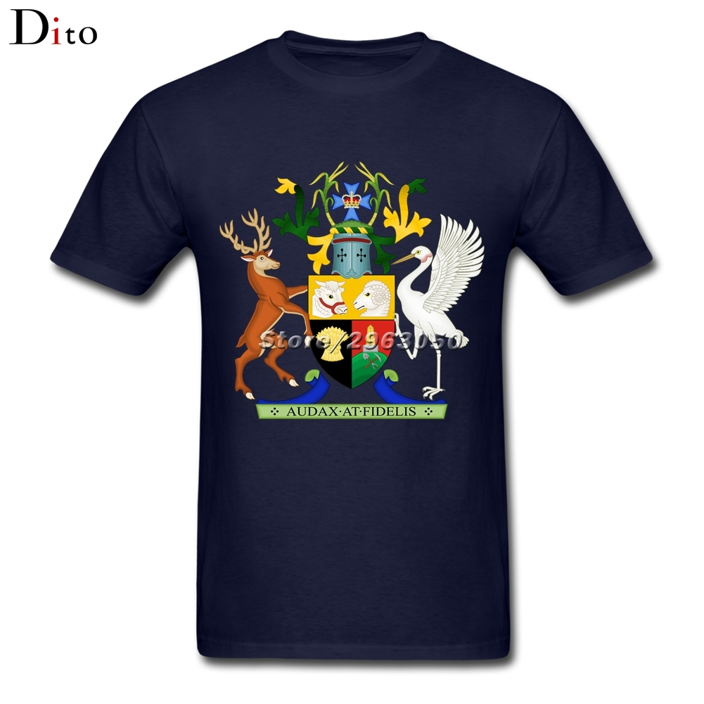 Coat of Arms of Queensland Tees Shirt Men Mans Crazy Short Sleeve Crewneck Cotton Plus Size Group Tshirt