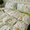 Nordic Floral Cotton Bedding Set 4pcs Duvet Cover Sets Soft Bed Flat Bed Sheet Set Pillowcase Bed Cover Housse De Couette