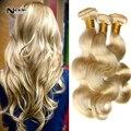 7A cabelo Cexxy onda do corpo mais leve loira brasileiro virgem extensões de cabelo 3 Pcs brasileiro loira 613 Remy cabelo preço barato