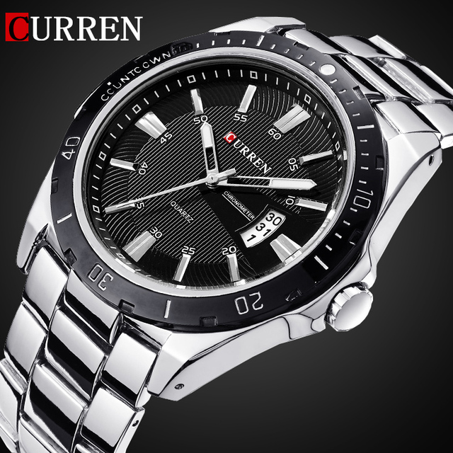 2016 CURREN NEW Fashion Men Sports Watches Quartz Date Clock Man Watch Men's Cas