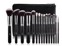 MSQ 15 PCS Rose Gold Makeup Brushes Set Professional Soft Synthetic Hair Natural Goat Hair Brush
