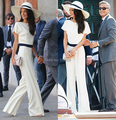 2015 весна лето новая мода элегантный черный белый женщины комбинезоны с коротким рукавом длинные брюки краткое Комбинезон знаменитости носить общий