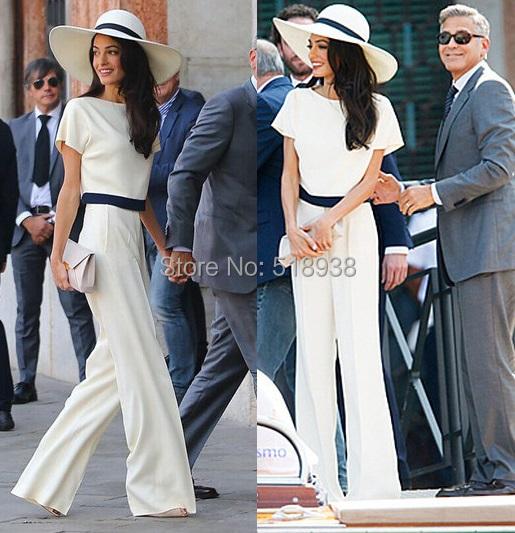 2015 verão nova moda elegante preto branco mulheres macacão de manga curta calças compridas breve Macacão desgaste celebridade global