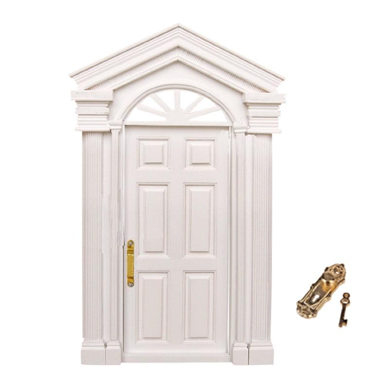 New 1:12 Dollhouse Miniature Classic Toys DIY Luxury Wooden White ...