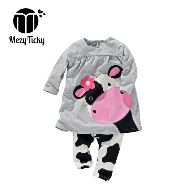 42aff705c MezyTicky Dress for CowsTeenage Girls Clothing Baby Boutique Kids Outfits  Set Tiny Cottons Children Summer Hip