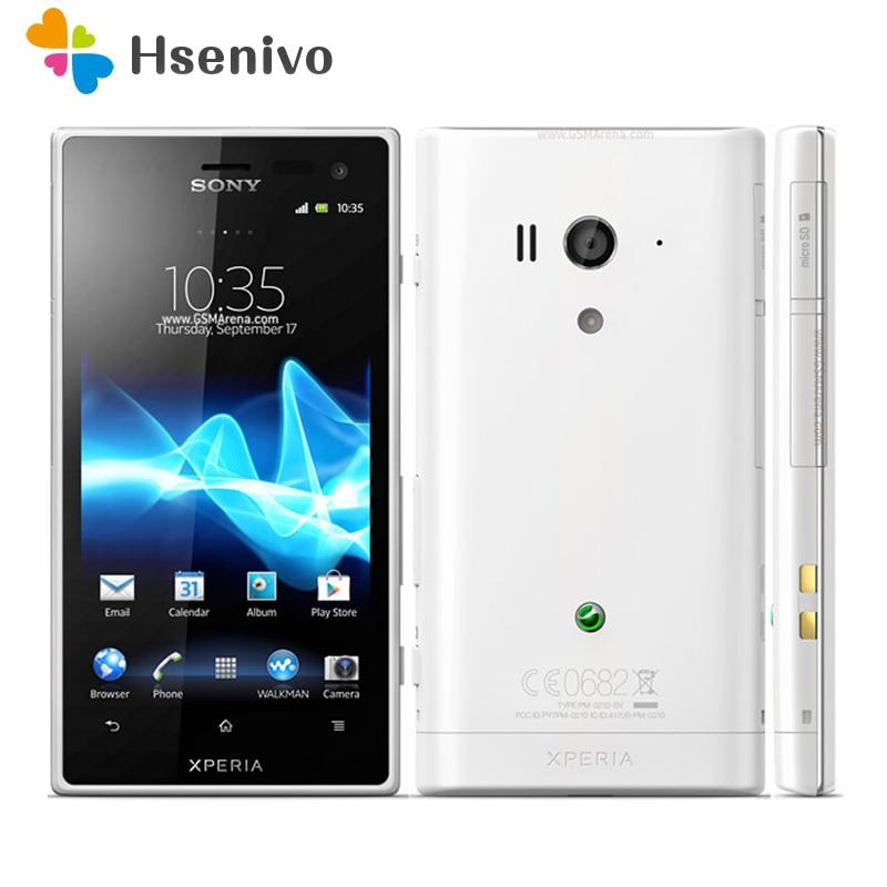 LT26w Sony Xperia acro S Original Unlocked LT26w GSM 4.3inch 3G/4G 12.1MP GPS WIFI Android Smartphone 1GB RAM 1910mah