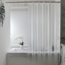 Nordic Plastic Waterproof Ponsvrij Douchegordijn Doorschijnend Verdikt Badgordijnen Frosted Atmosphere Partition Curtain