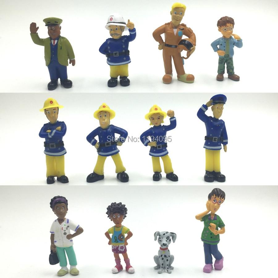 50Set Wholesale Fireman Sam figures Cute Cartoon PVC Dolls For Kids Gift  Elvis, Steele, Sam, Dilys, Helen, Norman, Tom sam mccarter norman whitby reading skills improve your ielts