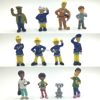 50Set Wholesale Fireman Sam figures Cute Cartoon PVC Dolls For Kids Gift Elvis, Steele, Sam, Dilys, Helen, Norman, Tom