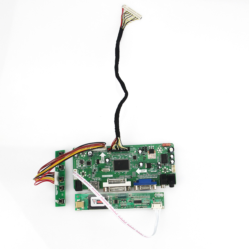 New (HDMI+VGA+DVI+Audio) M.NT68676 LCD/LED Controller Driver Board  For LP141WX1-TLE1 LP141WX5-TLC1